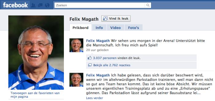 Voetbaltrainer Felix Magath op Facebook | #facebook#magath