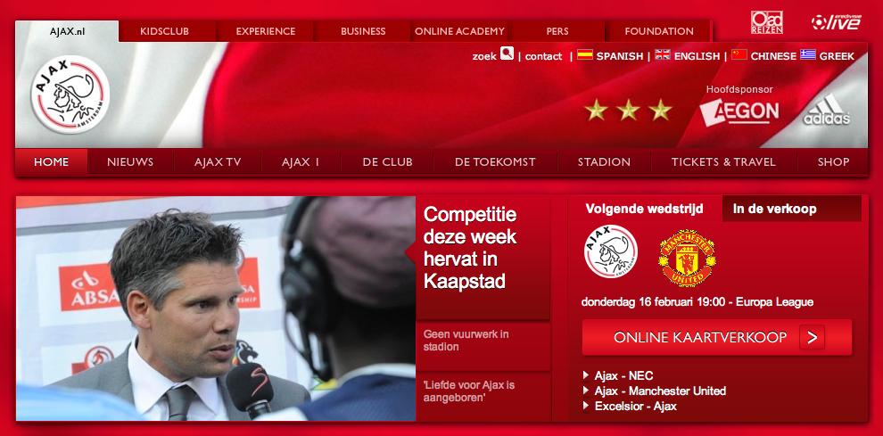 Ajax website en website score