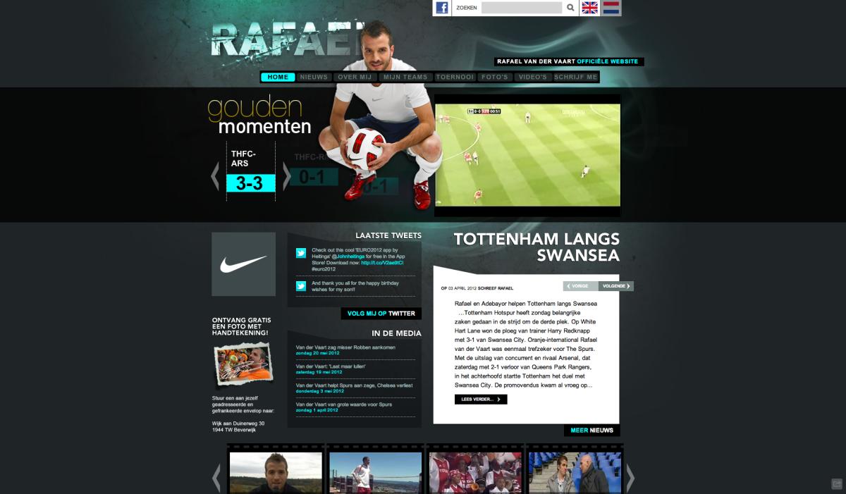 Website Rafael van der Vaart