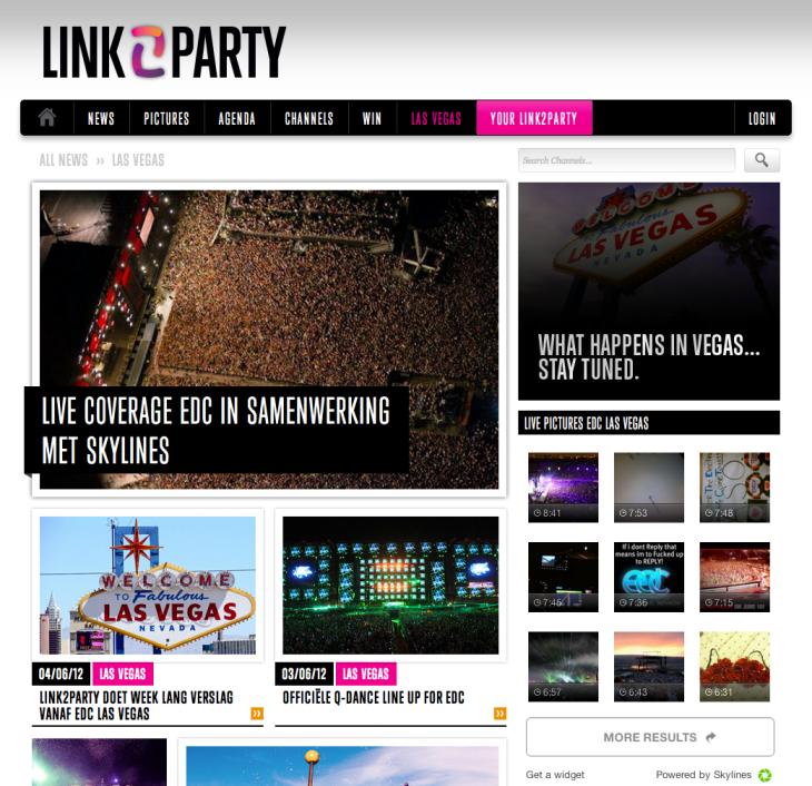 Link2part en Skylines doen samen verslag van het EDC 2012