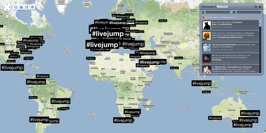 See how #livejump is trending with @redbullstratos
